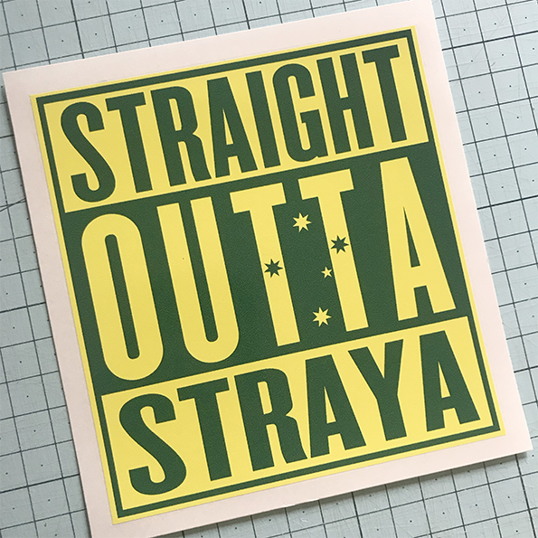 Outta Straya Sticker