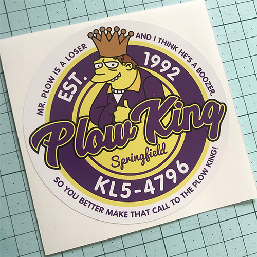 Plow King Sticker