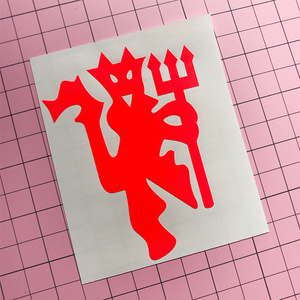 Red Devil Decal -Neon Red