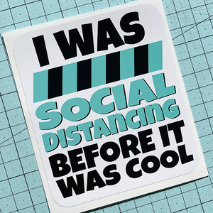Social Distancing Cool Sticker