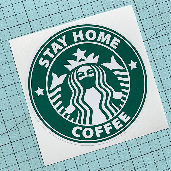 Stay Home Coffee Sticker