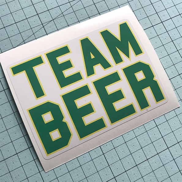 Team Beer Sticker