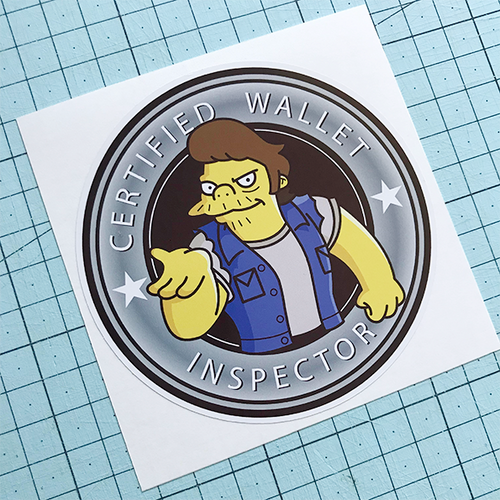 Wallet Inspector Sticker