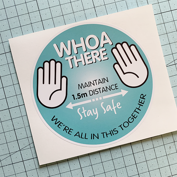 Who There (teal) Sticker