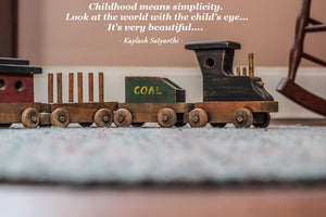 Wooden train citation | Wood and Toys