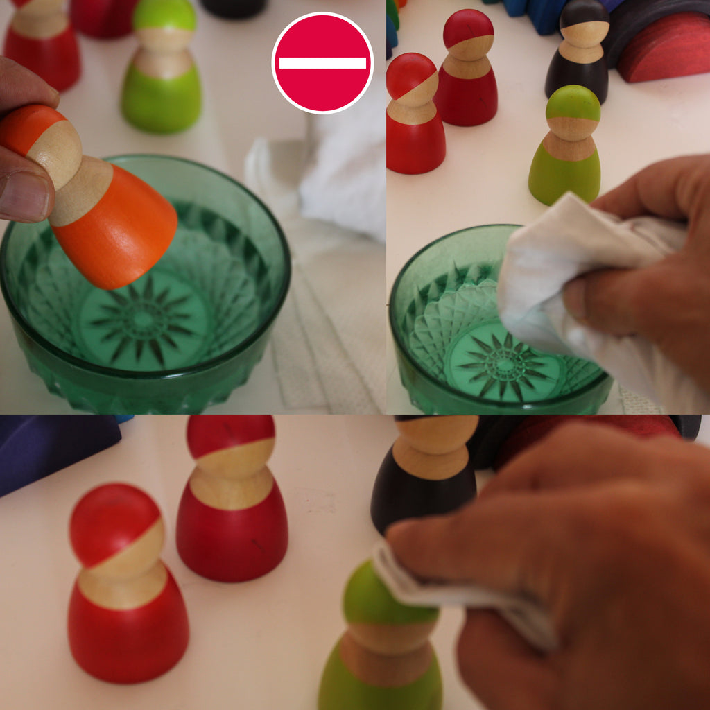 wooden toys cleaning process