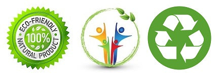 Eco Friendly logo - sustainable life