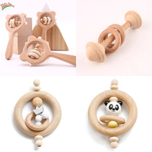 Load image into Gallery viewer, Natural wooden baby rattle - Toddler - Wood N Toys