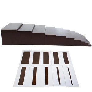 Brown Stairs & Cards - Montessori Sensorial - Wood N Toys