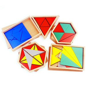 Constructive Triangles - Montessori Sensorial - Wood N Toys