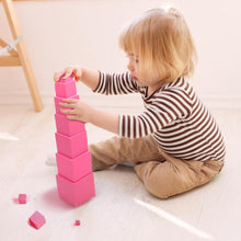 Load image into Gallery viewer, The pink tower - Montessori Sensorial - Wood N Toys