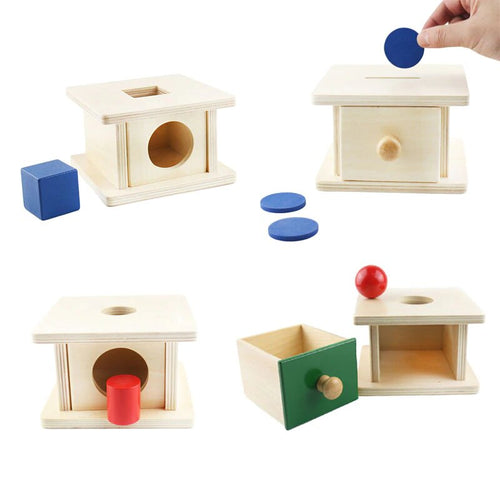 Permanence box with drawer - Toddler Montessori - Wood N Toys