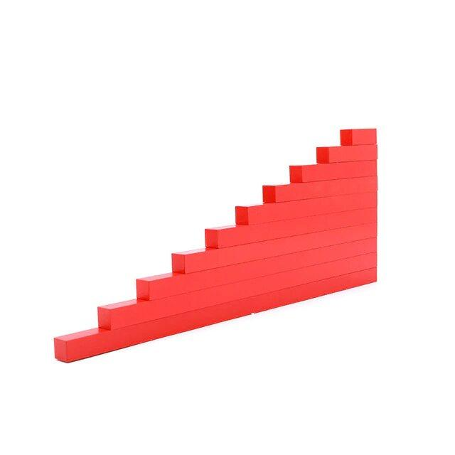 Red Rods - Montessori Sensorial - Wood N Toys