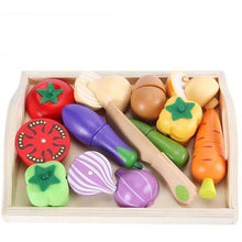 Load image into Gallery viewer, Wooden play food set - Educational toy - Wood N Toys