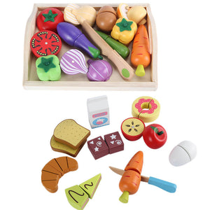 Wooden play food set - Educational toy - Wood N Toys