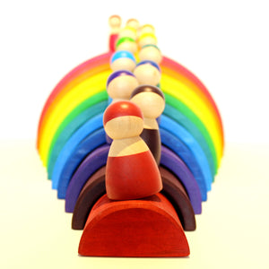 Rainbow Wooden friends - Educational toy - Wood N Toys