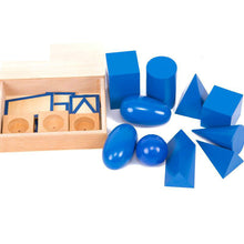 Load image into Gallery viewer, Geometric solids with stands - Montessori Materials - Wood N Toys