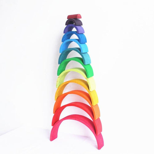 Wooden rainbow stacker - Educational toys - Wood N Toys