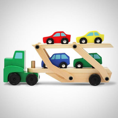 Trailer truck and cars - Wood N Toys