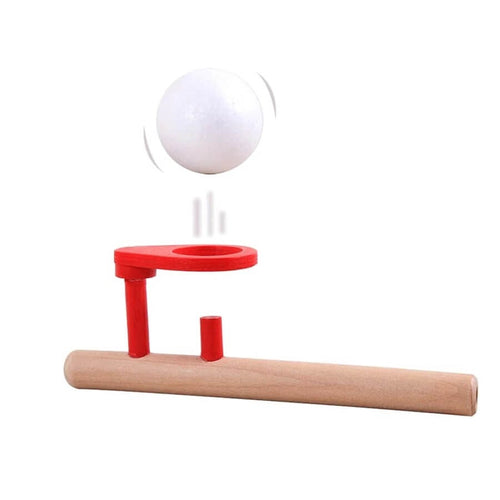 Wooden blowing ball game - Wood N Toys
