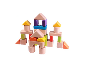 Coloured wooden blocks box - Educational toy - Wood N Toys