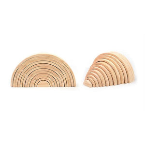 Natural wooden rainbow - Educational material - Wood N Toys