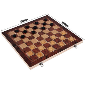 Wooden Strategy board games - set 3 in 1 - Wood N Toys