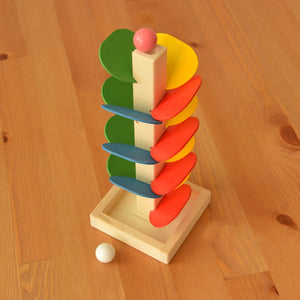 The slide tree / marble run - Educational toy - Wood N Toys