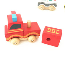 Load image into Gallery viewer, Wooden stacking cars - Toddler toy - Wood N Toys