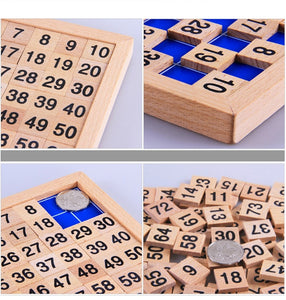Wooden numbers table - Educational material - Wood N Toys