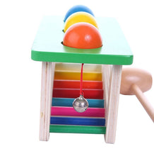 Load image into Gallery viewer, Wooden hammer and ball game - Toddler - Wood N Toys