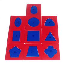 Load image into Gallery viewer, Metal inset shapes - Montessori Language - Wood N Toys