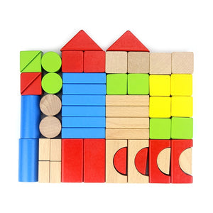 Multi colored wooden blocks - Wood N Toys