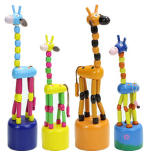 Load image into Gallery viewer, Wooden mobile giraffe - Toddler - Wood N Toys