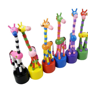Wooden mobile giraffe - Toddler - Wood N Toys