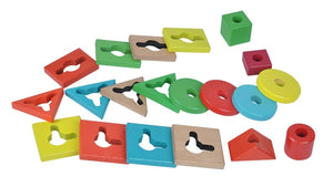 Wooden geometrical shapes sorter - Educational toy - Wood N Toys