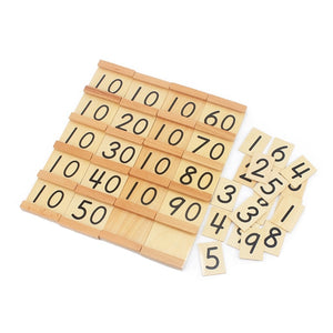 Seguin board & beads bars - Montessori material - Wood N Toys