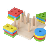 Load image into Gallery viewer, Geometric shapes sorter - Educational toy - Wood N Toys