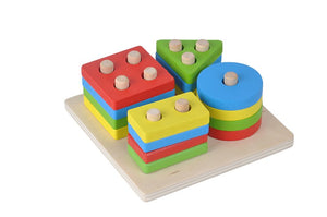 Geometric shapes sorter - Educational toy - Wood N Toys