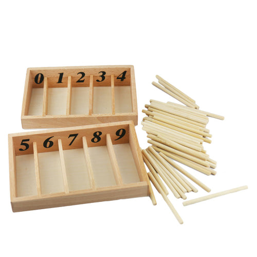 Spindle box - Montessori Mathematics - Wood N Toys