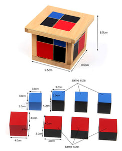 Binomial wooden cube - Montessori Material - Wood N Toys
