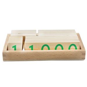 Number cards / Decimal System - Montessori mathematics - Wood N Toys