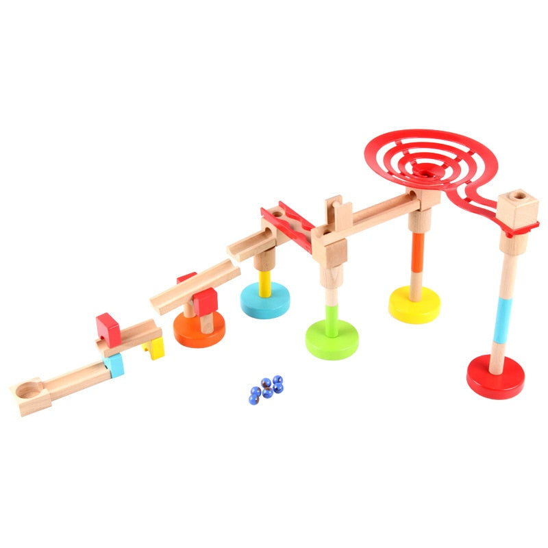 Wooden Marble run - Educational toy - Wood N Toys