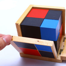 Load image into Gallery viewer, Binomial wooden cube - Montessori Material - Wood N Toys
