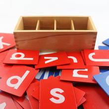 Load image into Gallery viewer, Sandpaper letters box - Montessori Language - Wood N Toys