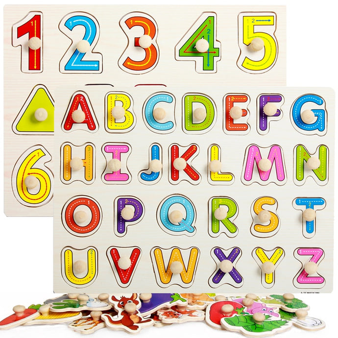 Inspirational wooden puzzles - Educational toy - Wood N Toys