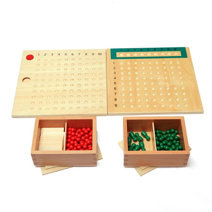Unit board of division & multiplication - Montessori mathematics - Wood N Toys