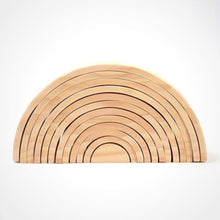 Load image into Gallery viewer, Natural wooden rainbow - Educational material - Wood N Toys