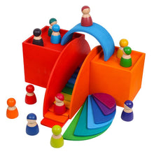 Load image into Gallery viewer, Rainbow Wooden friends - Educational toy - Wood N Toys