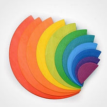 Load image into Gallery viewer, Wooden Rainbow semi circle  - Educational toy - Wood N Toys